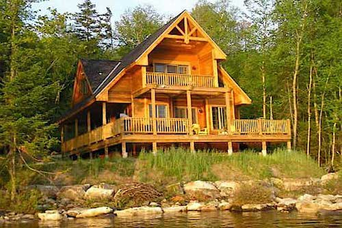 Vacation cabin overlooking the water