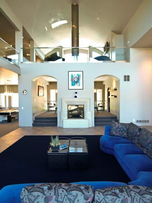 Contemporary style home with arched wall openings in the Great Room