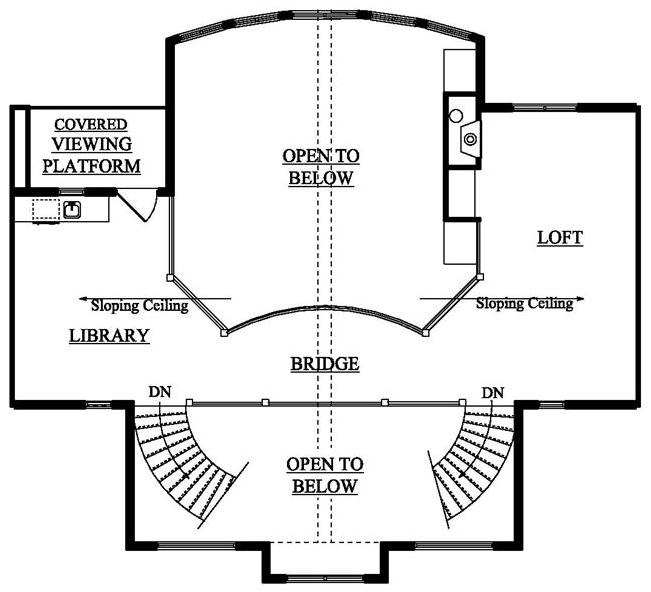 Loft floor plan of Luxury Plan #161-1017