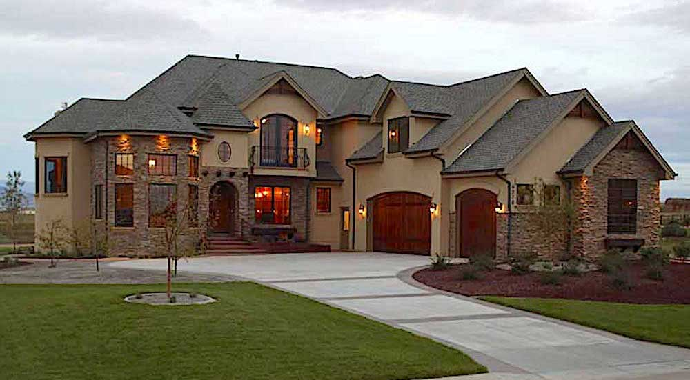 5,700-sq.-ft. French style home plan #161-1022