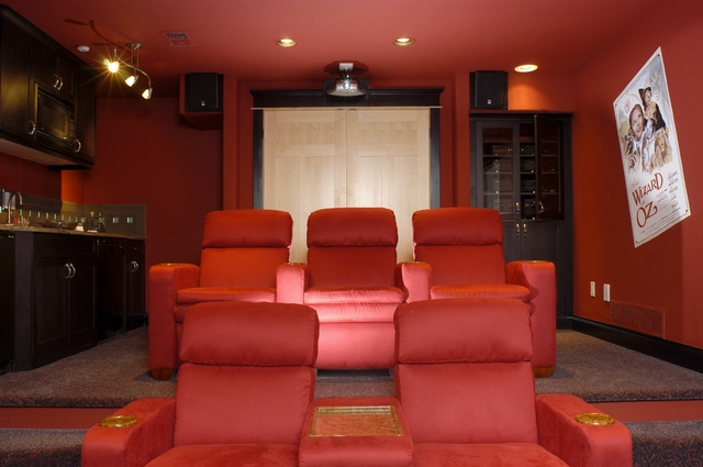 Media room/home theater in luxury home over 5000 sq. ft.