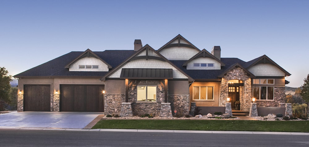 Beautiful example of modern transitional Arts & Crafts style home