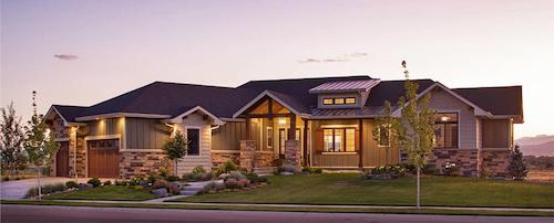 Beautiful contemporary Ranch style home with rustic aspects