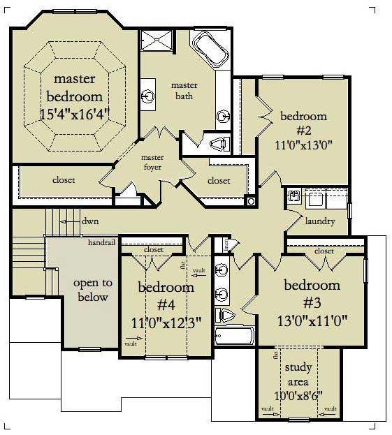 Floor plan of house plan #163-1001