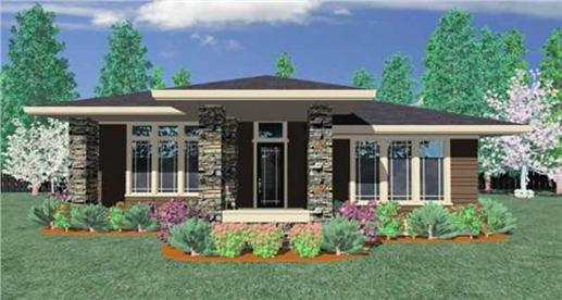 Prairie style house plan transformed american for American house plans and designs