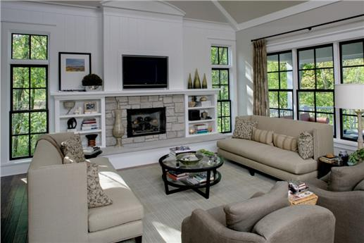 This is a photo of the interior of this home with an open floor plan.