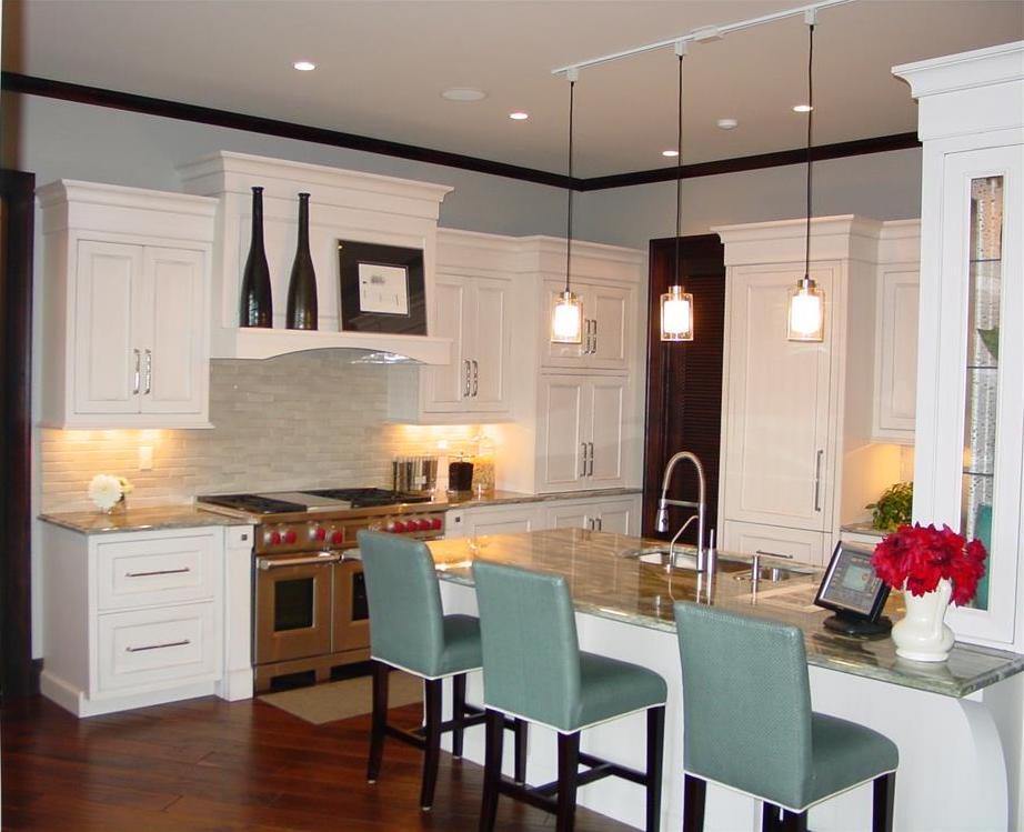 White, family-friendly kitchen in House Plan #168-1104