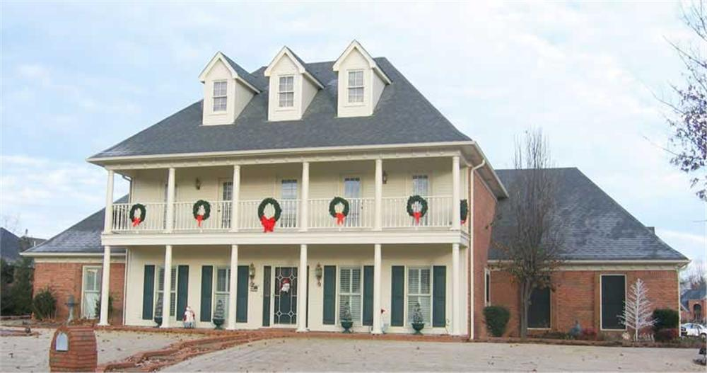 2-story Southern house plan #170-1343 decked out for the Holidays