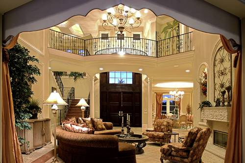 Majestic entry living room in home over 5000 sq. ft.