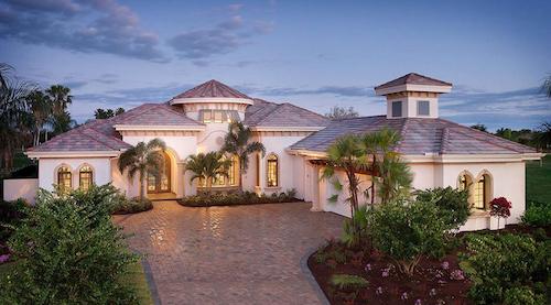 Mediterranean style home with courtyard, portico, patio, lanai,  4 bathrooms, 4 bedrooms