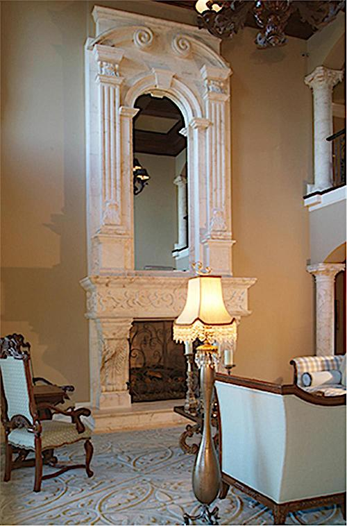 Fireplace with Old World charm in Plan #180-1043