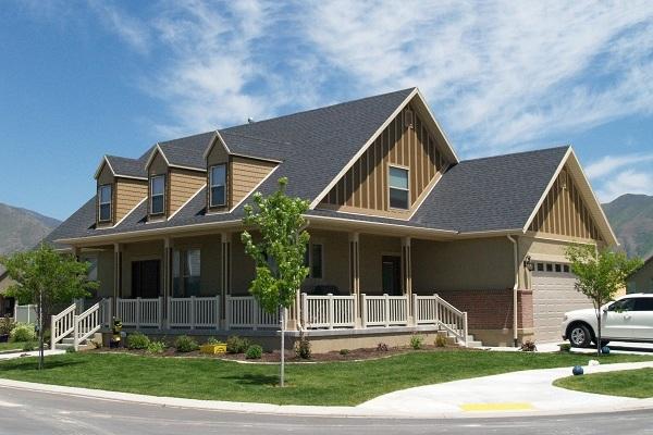 Corner lot house plan #187-1006
