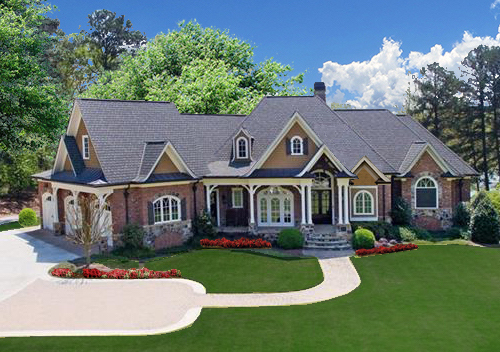 Country style house plan 198-1011