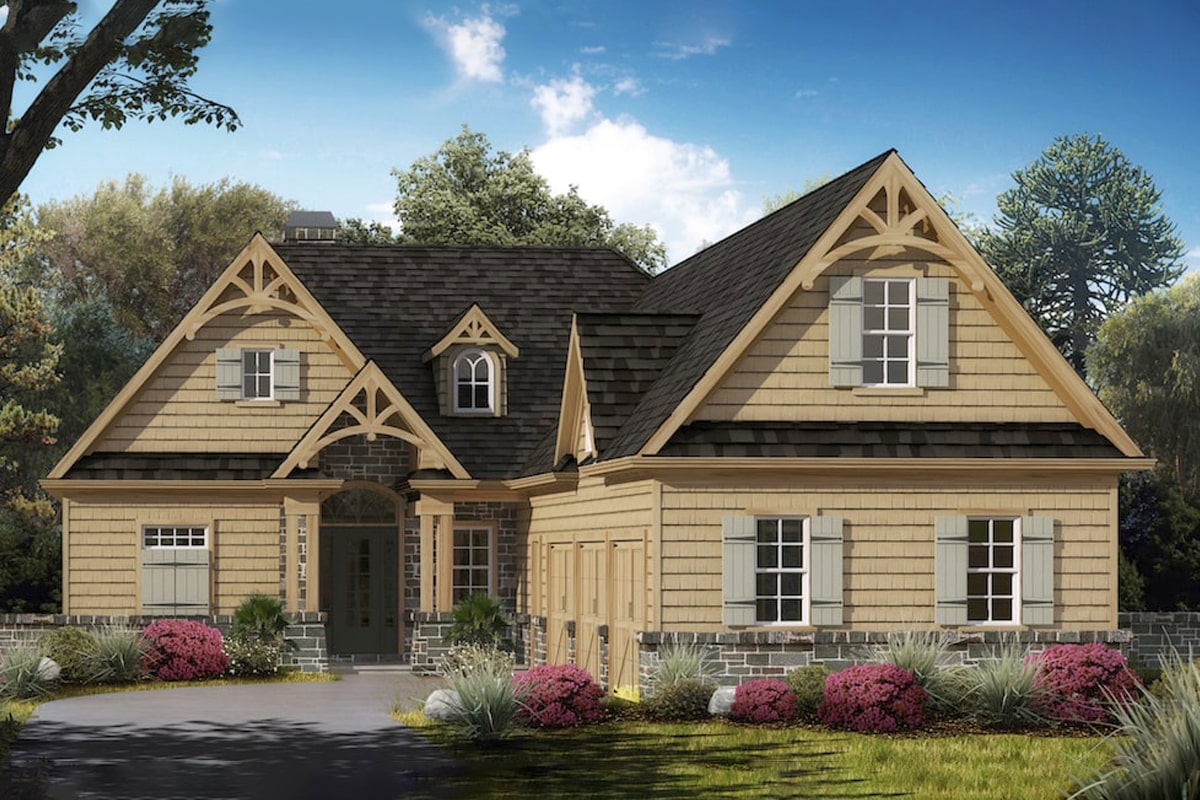 Rustic country style house plan #198-1038