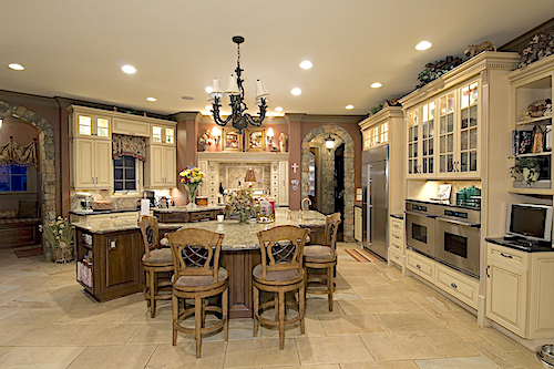 Large modern kitchen in home over 5000 sq. ft.