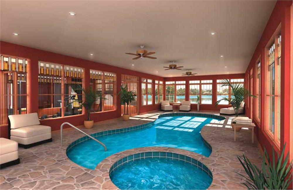 Home with luxurious indoor pool and spa