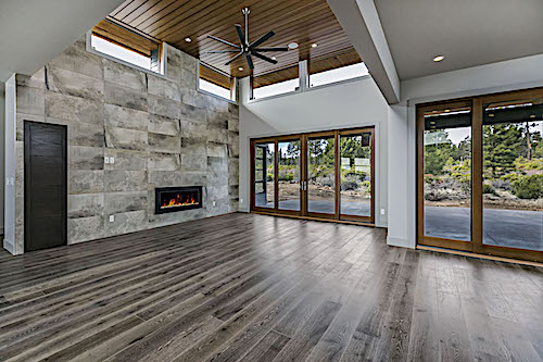 Atrium-like great room with clerestory windows in Plan #202-1015