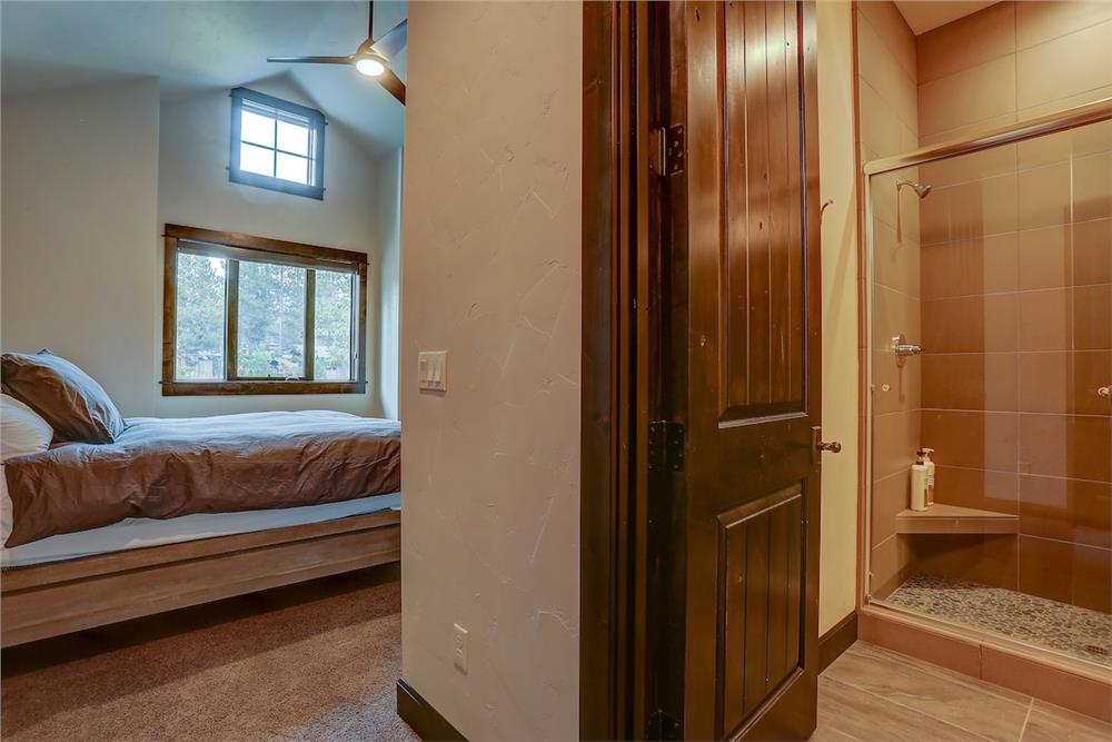 Guest bedroom with bathroom right outside its door