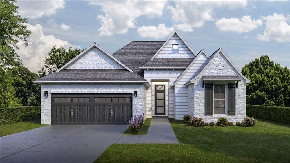 3-bedroom, 2-bath, 1693-sq.-ft. 1-story Traditional home with white brick and vinyl siding
