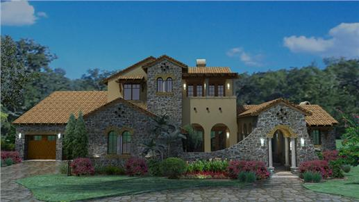 Luxury Tuscan House Plan.