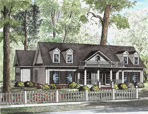 Southern Style 141 1001 Southern Style Home With Traditional Columns  153 1404