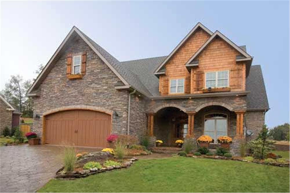 Front view of this Craftsman style home.