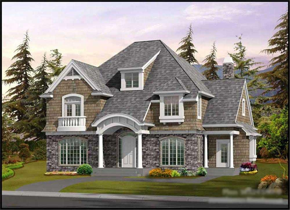 Shingle Style House Plans  A Home Design   New England RootsLuxurious shingle style home