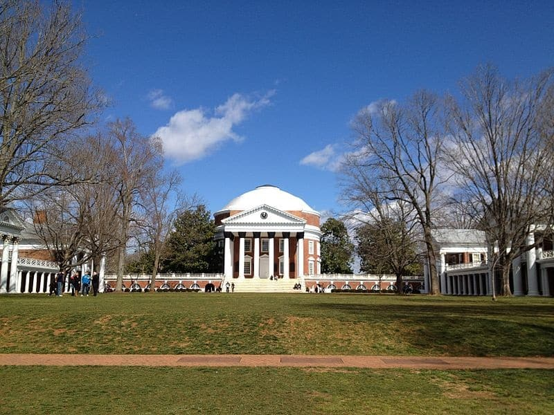 The Rotunda and Academic Village at the University of Virginia