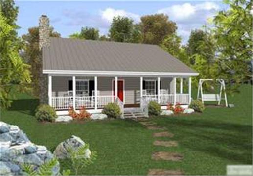 Welcome back small house the small house plan can pack a for Small ranch house plans