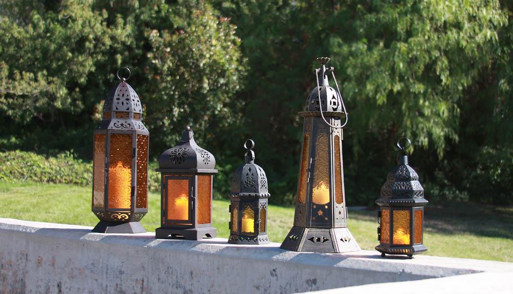 Moroccan-theme lanterns