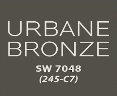 Color swatch from Sherwin Williams called Urbane Bronze
