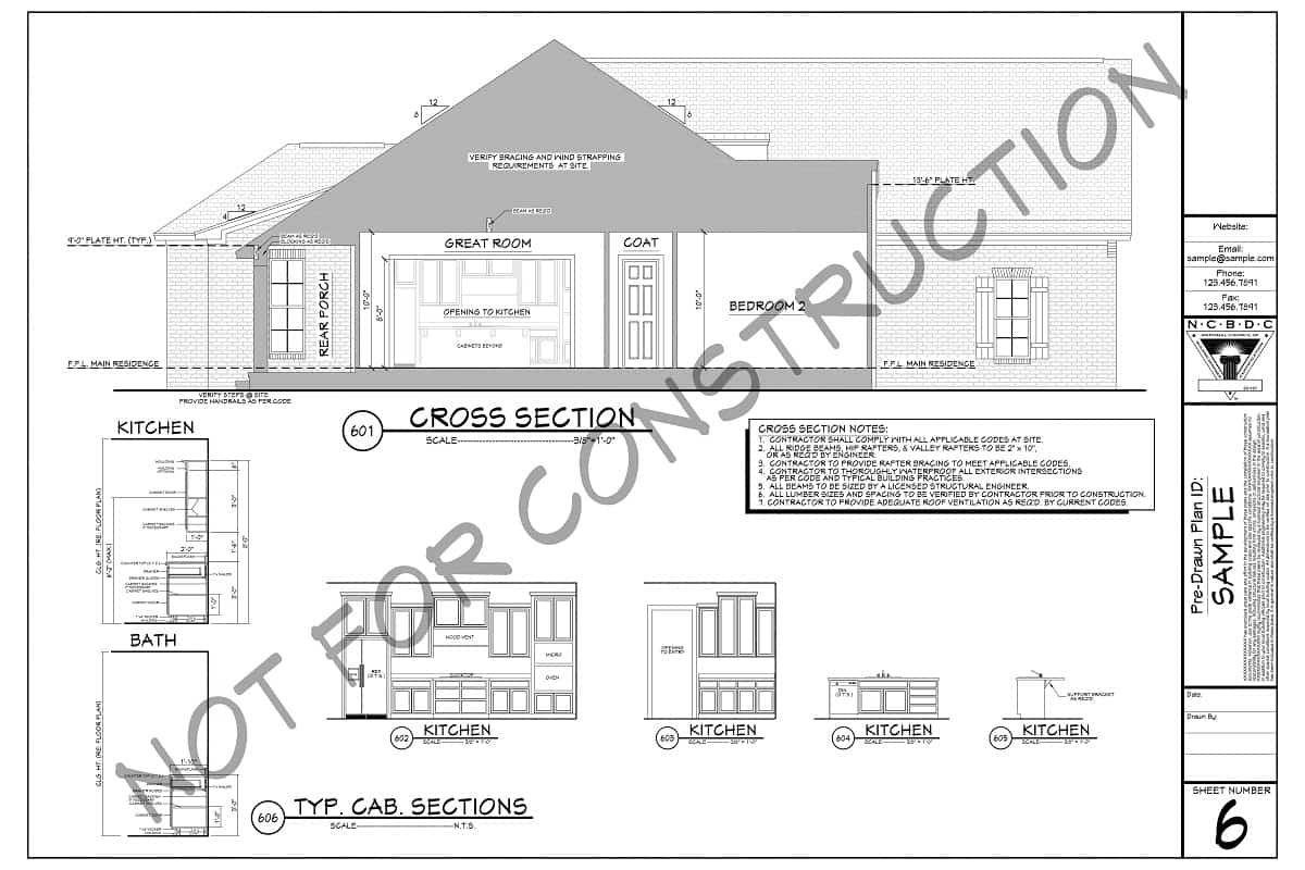 Sample Plans - Cross Sections