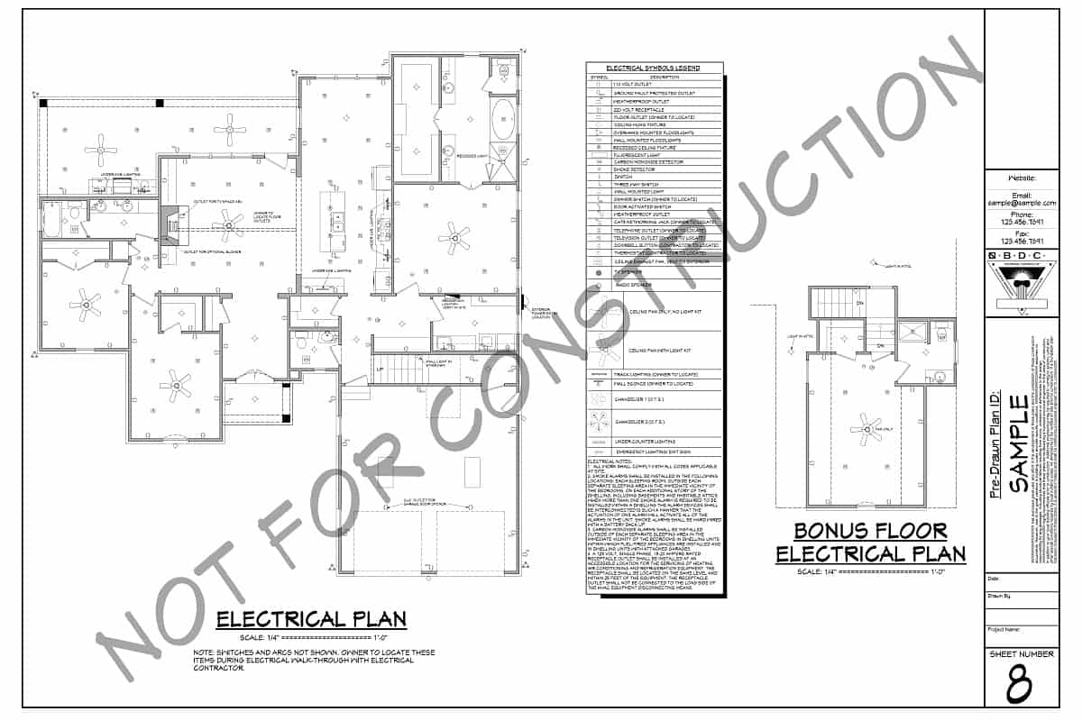 Sample Plans - Electrical Layout