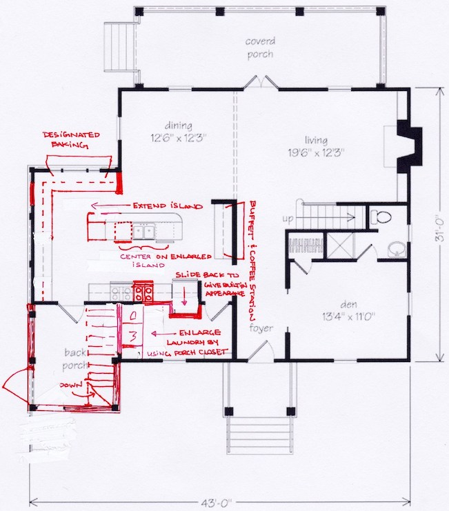 example of redlined house plan