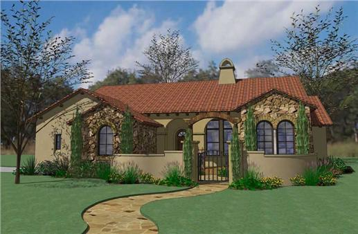 Tuscan details fit in well on the Texas landscape.