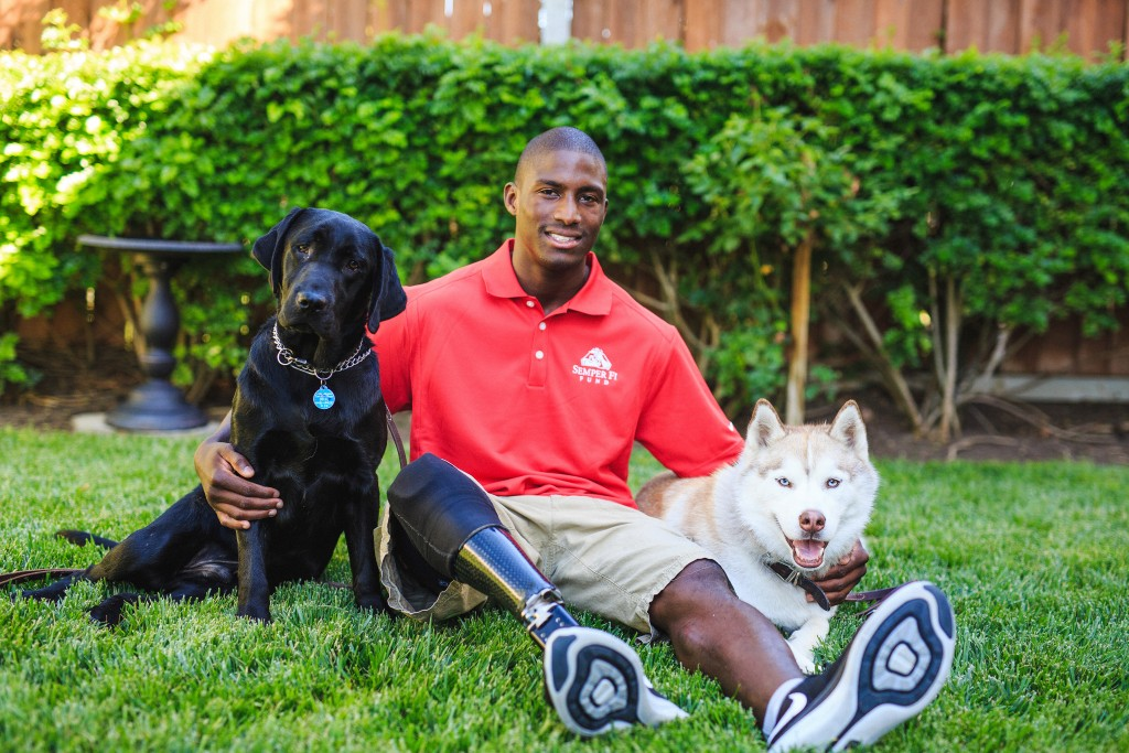 Semper Fi Fund service dogs and veteran