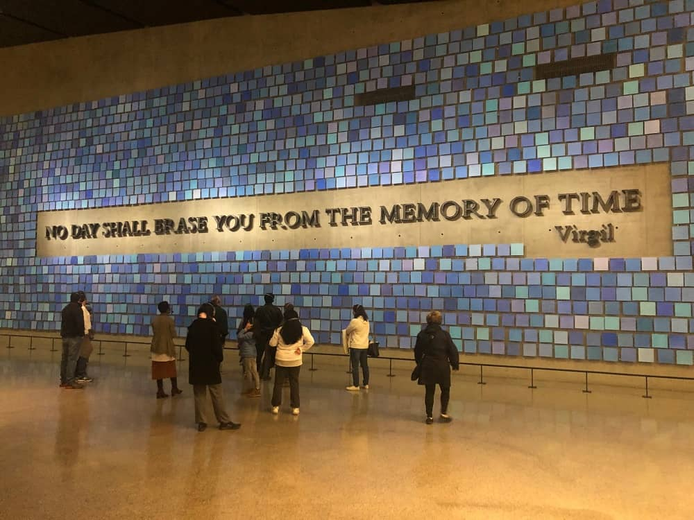 Interior view of the September 11 Memorial Museum