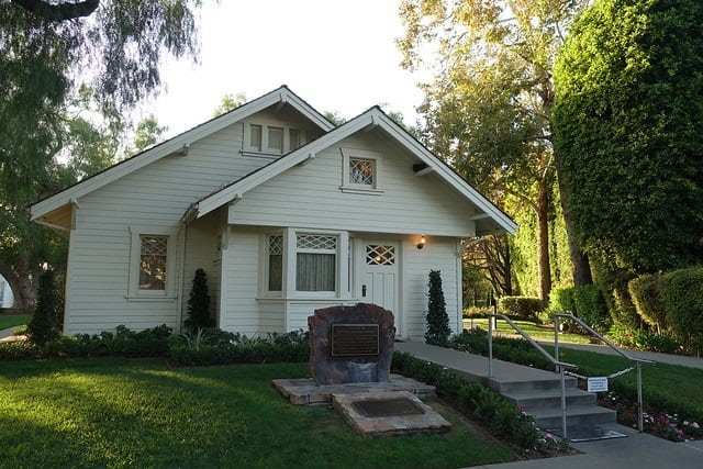 This small house - cottage circa 1913 was the birthplace of Richard Nixon