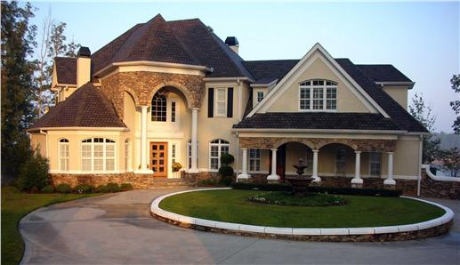 Two-story Texas style house plan #106-1169