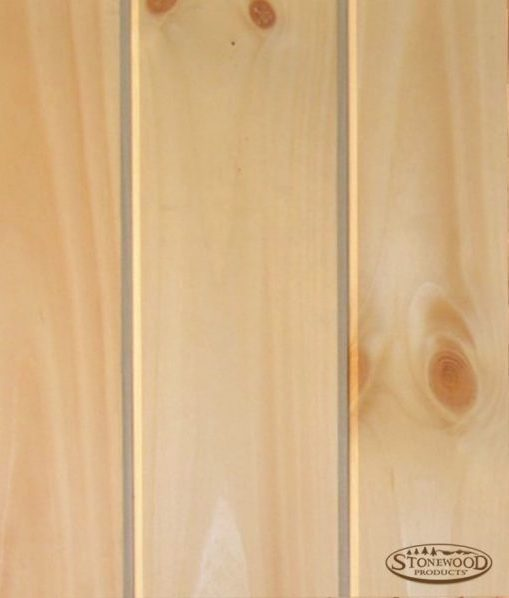 Pine V-groove paneling