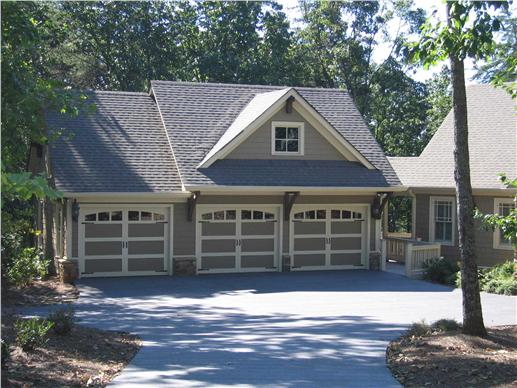 3-car garage with studio apartment above - perfect for in-laws or college students at home!