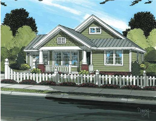 The traditional house america s style plan is both warm Classic bungalow house plans