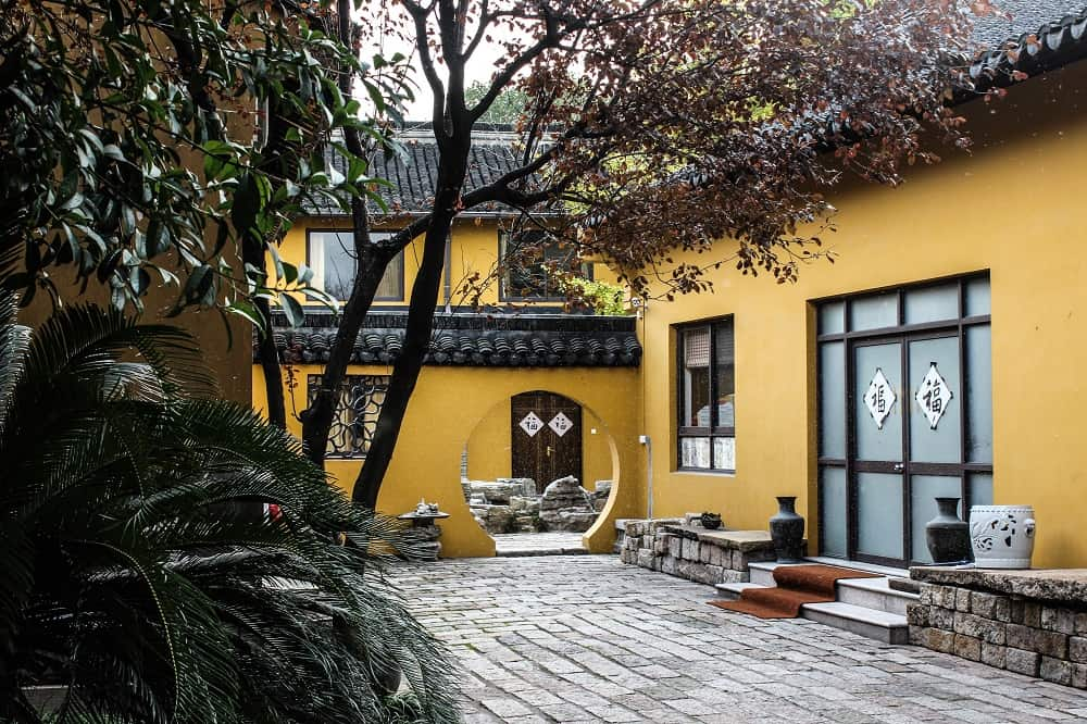 Traditional Chinese home with interior courtyard for privacy
