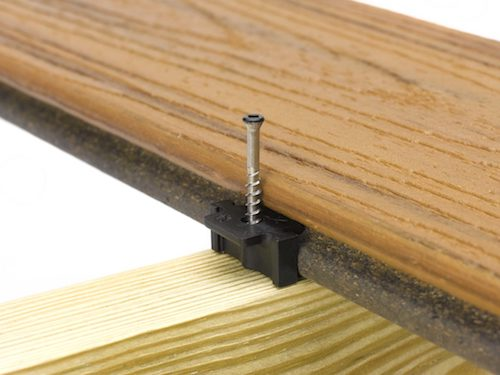 Trex hidden fastener for decking