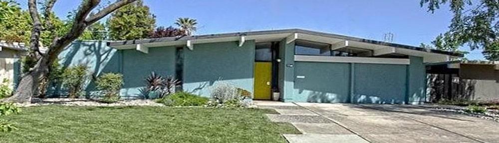 Typical Joseph Eichler mid-century modern home