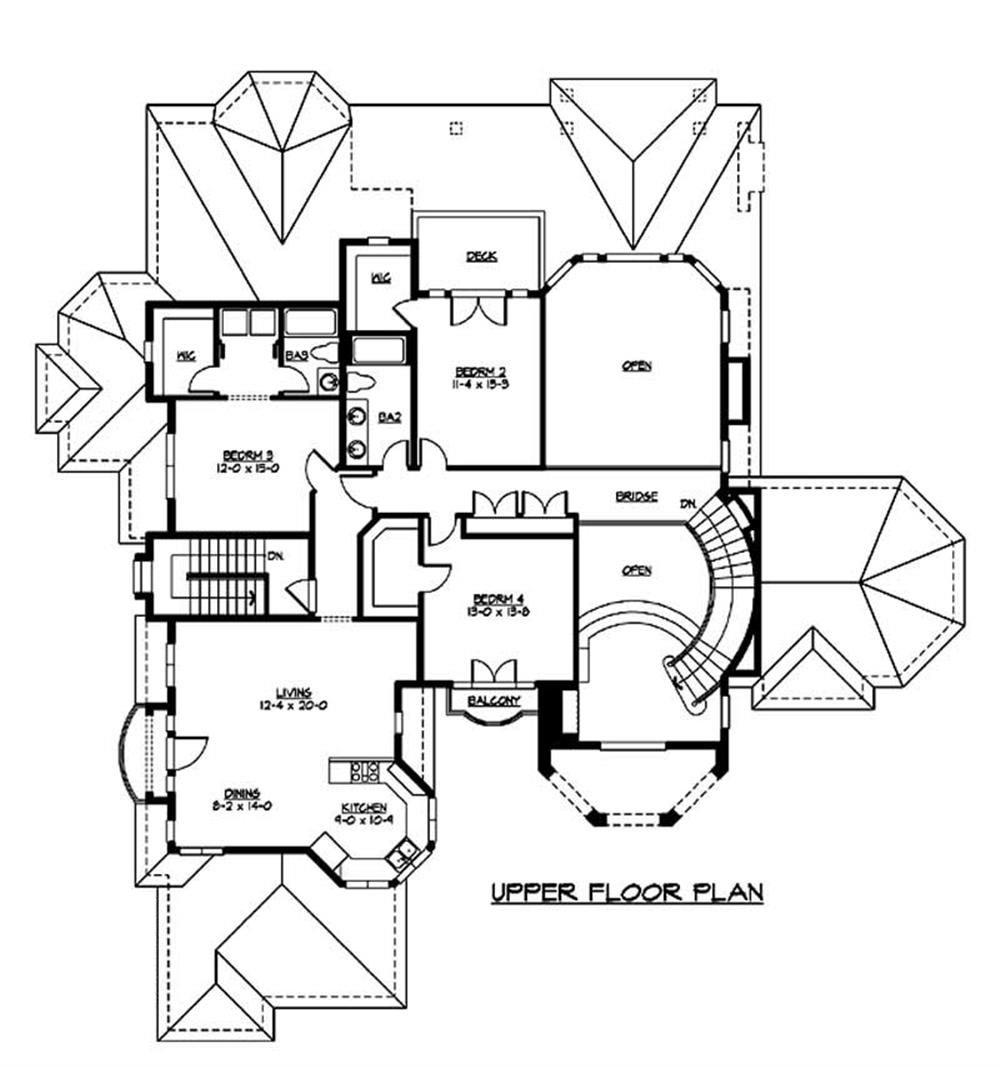 Second floor plan including s second kitchen, kitchen, dining area and 2 additional bedrooms.