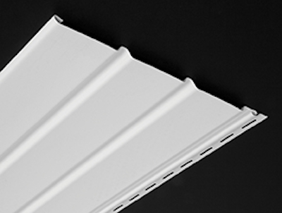 Vinyl chamfer-board siding, which is used horizontally or vertically  or as a soffit