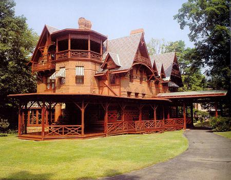 Mark Twain's Victorian home.
