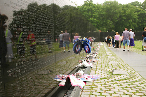 Vietnam Veterans Memorial on the National Mall in Washington DC