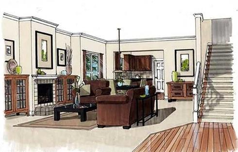 Interior view of living room.